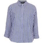 Topshop Mix Gingham Shirt