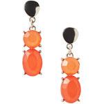 Esprit Náušnice s kamínky v korálové barvě