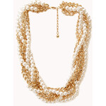 Forever 21 Opulent Faux Pearl & Chain Choker