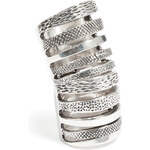 Pamela Love Sterling Silver Double Cage Ring
