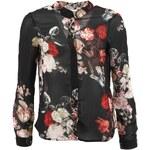 Černá květovaná košile Vero Moda Winter Bloom