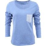 Modré dámské tričko ZOOT Originál Pocket Pruhovaná