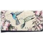 Krémová peněženka s kolibříky Disaster The Aviary