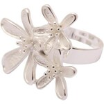 My Astre Prsten Stříbrné jarní květy