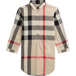 Burberry Brit Printed Cotton Shirt Dress