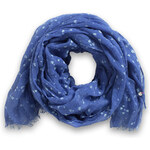Esprit large heart scarf with flock print