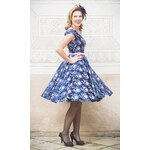 MiaBella LOREN společenské retro šaty tmavěmodré Barva: Barva jako na obrázku, Velikost: 38
