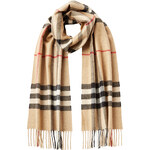Burberry Shoes & Accessories Cashmere Giant Check Scarf