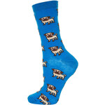 Topshop Blue All Over Pug Ankle Socks