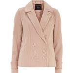 DP Krátký kabát ve světle růžové barvě
