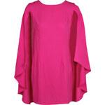 BOOHOO Růžové šaty Katie s vodopádovými rukávy