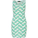 DP Elegantní šaty se zeleným zig zag vzorem