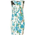 DP Bílé šaty s modrým květinovým potiskem