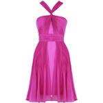 VELA LOVES Fialovo-růžové twist šaty