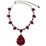 LA FEMME Stříbrný náhrdelník s růžovými krystaly