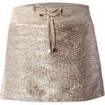 LONDON TIMES Metalická mini sukně