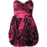 LIPSY Sexy růžovo-černé korzetové šaty