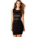 BOOHOO Černé mini šaty Avril