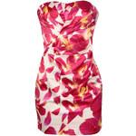LIPSY Bílé mini šaty s růžovým květinovým potiskem