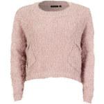 FROCK AND FRILL Starorůžový svetr s kapsami