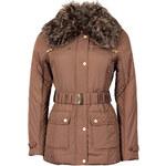 FROCK AND FRILL Světle hnědá zimní bunda s kožešinou