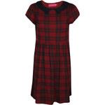 BOOHOO Vínové tartanové šaty Jen