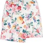 QUIZ LONDON Krémovo-korálová sukně - šortky