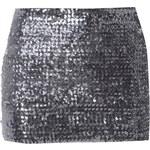 TFNC Metalická flitrová mini sukně Mili