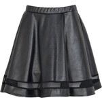 BOOHOO Černá PU sukně Mia