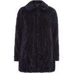 DP Kožešinový kabát ve fialové barvě