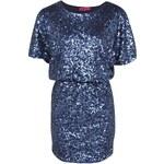 BOOHOO Modré flitrové šaty Mandy