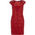 DP Červené šaty s krajkou a flitry