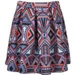 BOOHOO Barevná sukně vzorovaná Hailey