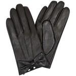 ELISE RYAN Černé kožené rukavice