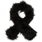 LA FEMME Černá kožešinová šála