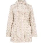 QUIZ LONDON Delší kožešinový kabát v šedo-béžové barvě