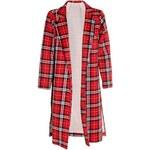 CHIARA Červený tartanový kabát Dana