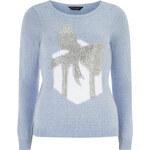DP Modrý pletený svetr s dárkem