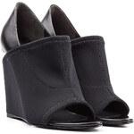 Alexander Wang Neoprene and Leather Wedge Sandals