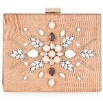 ELISE RYAN Luxusní růžové psaníčko zdobené korálky