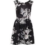Černé šaty s květinovým vzorem Closet
