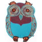 Modrý polštářek ve tvaru sovy Tranquillo