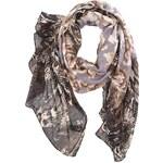 Tmavý vzorovaný šátek Pieces Konstas