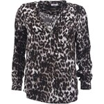 Černá halenka s leopardím vzorem ONLY Shallow