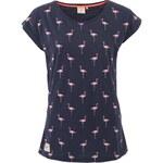 Tmavě modré dámské tričko s plameňáky Brakeburn Flamingos