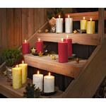 Tchibo Třpytivé válcové svíčky, 2 ks, velké, stříbrné