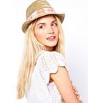 Echo Ethnic Straw Fedora Hat