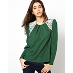Max C London Max C Blouse With Lace Insert