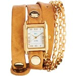 La Mer Tan & Gold Wrap Around Watch