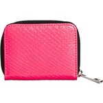 ASOS Zip Around Purse In Neon Snake